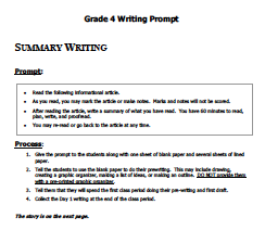 Image of Summary Writing