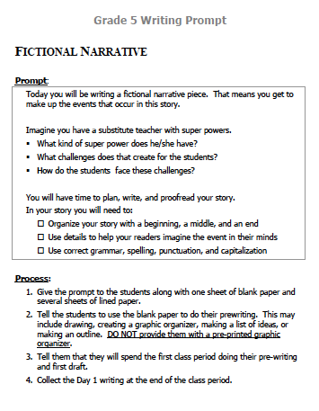 Image of Fictional Narrative Writing