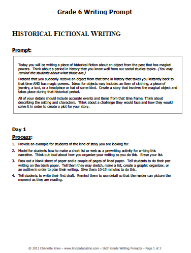 Image of Historical Fiction Writing